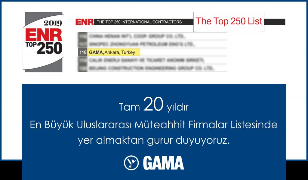 GAMA 20 yıldır ENR'da